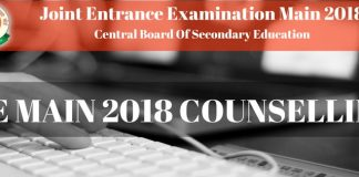 JEE Main 2018 Counselling Procedure