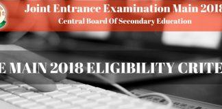 JEE Main 2018 Eligibility Criteria