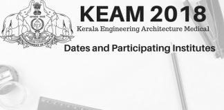 KEAM 2018 Dates