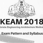 KEAM 2018 Exam Pattern and Syllabus