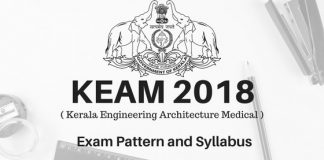 KEAM 2018 Exam Pattern and Syllabus