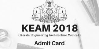 KEAM 2018 Admit Card