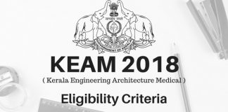 KEAM CEE 2018 Eligibility Criteria