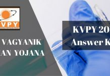 KVPY 2018 Answer Key