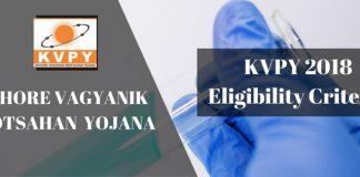 KVPY 2018 Eligibility Criteria