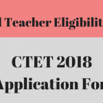 CTET 2018 Application Form