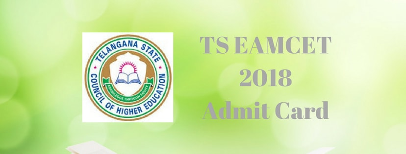 TS EAMCET 2018 Admit Card/Hall Ticket