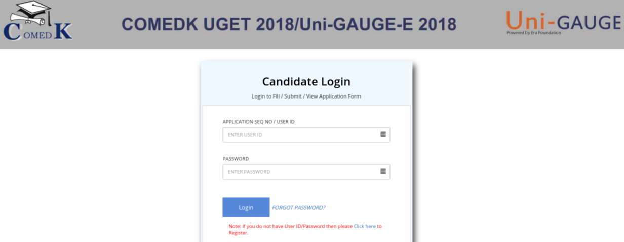 COMEDK UGET result 2018 login