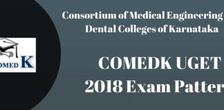 COMEDK UGET 2018 Exam Pattern