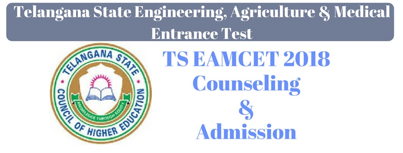 TS EAMCET 2018 Counseling And Admission