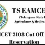 TS EAMCET 2108 Cut Off And Seat Reservation