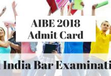 AIBE 2018 Admit Card