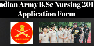Indian Army B.Sc Nursing 2018 Application Form