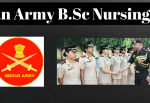Indian Army B.Sc Nursing 2018