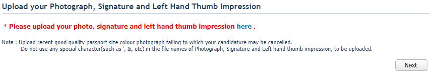 IPU CET 2018 Application Form Upload Photograph Section