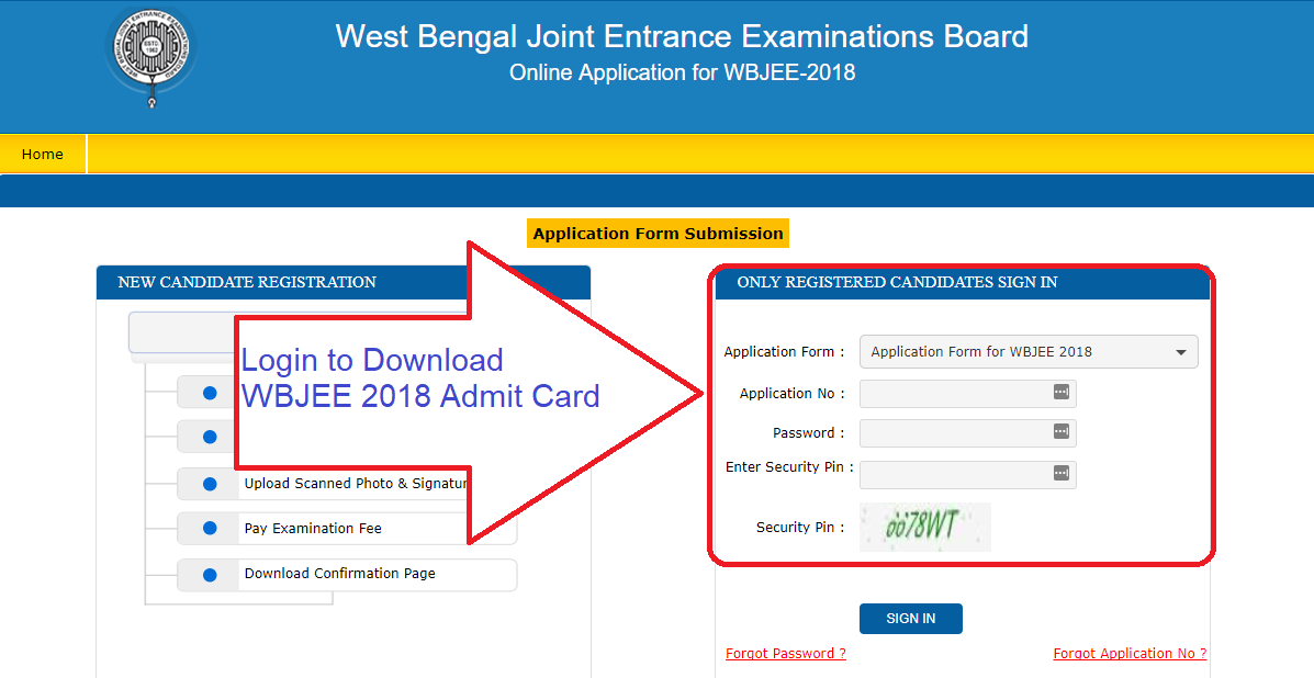 WBJEE 2018 Admit Card download