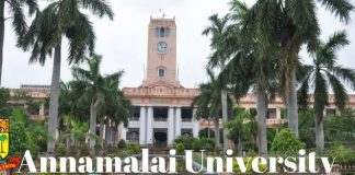 Annamalai University Admission 2018