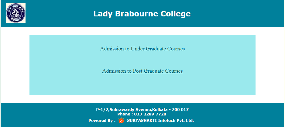 lady Brabourne College Merit List 2018