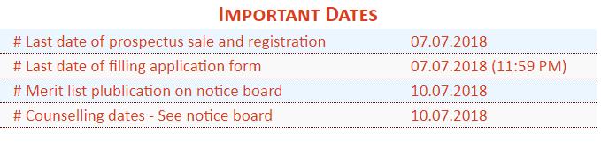 BSA PG College Mathura Merit List 2018