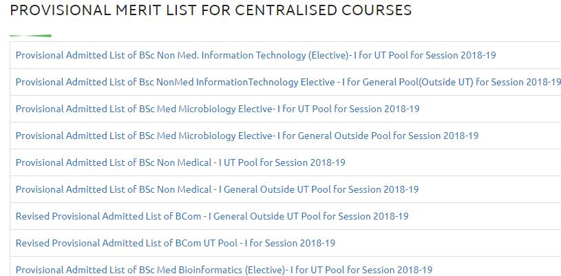 DHE Chd Merit List 2018