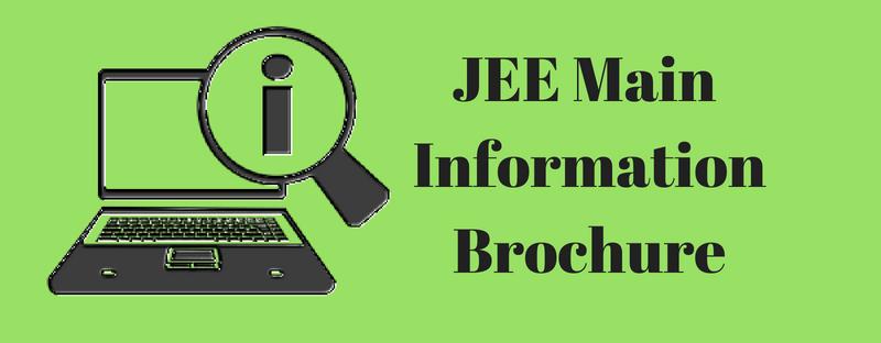 JEE Main 2019 Information Brochure