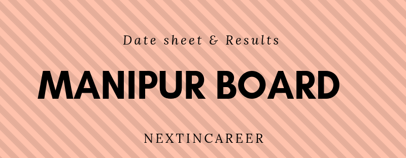 Manipur Board 12th Date sheet 2019