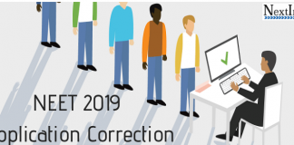 NEET 2019 Application Correction