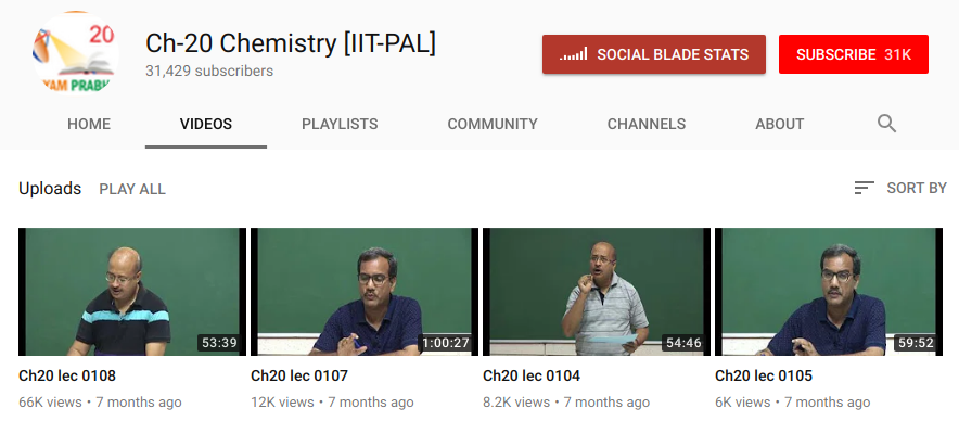 NTA Video Lectures for Chemistry