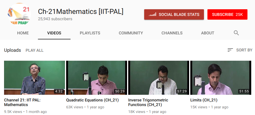 NTA Video Lectures for Mathematics