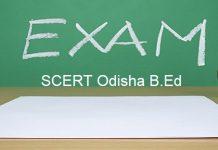 SCERT Odisha B.Ed