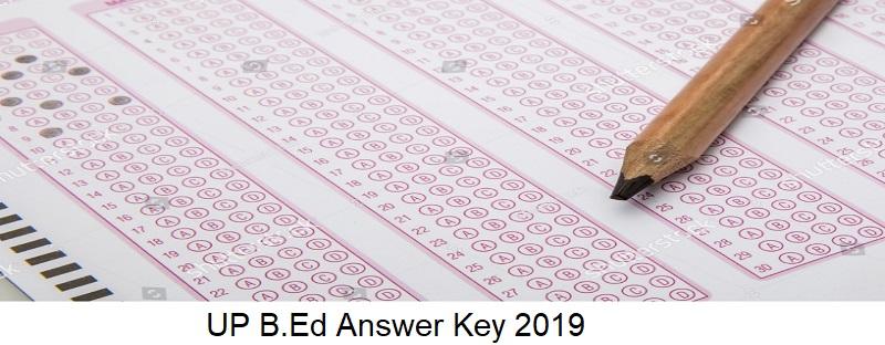 UP B.Ed Answer Key 2019