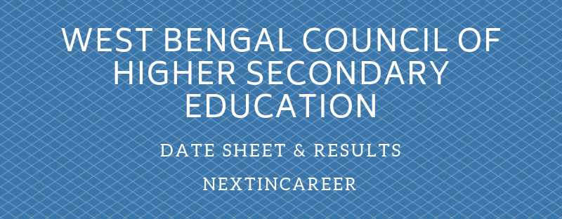 West Bengal Board 12th Time Table 2019