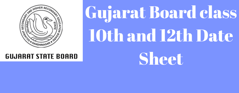 Gujarat Board Date Sheet 2019