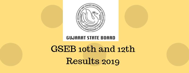 Gujarat Board Result 2019