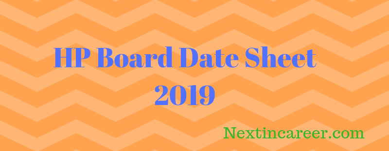 HP Board class 10th date sheet 2019