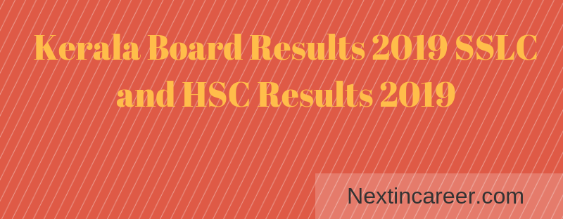 Kerala Board SSLC Results 2019