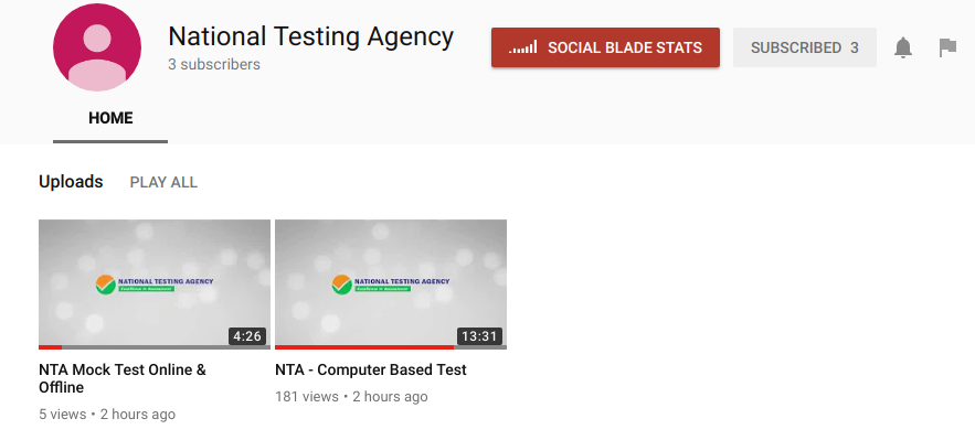 NTA Youtube Channel