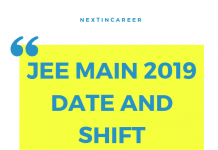 jee main 2019 date shift
