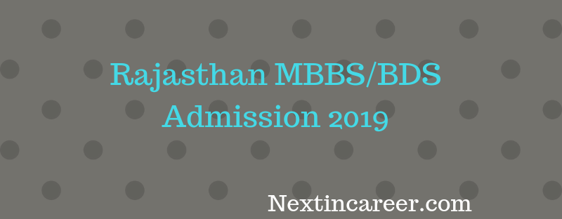 Rajasthan MBBS Admission 2019